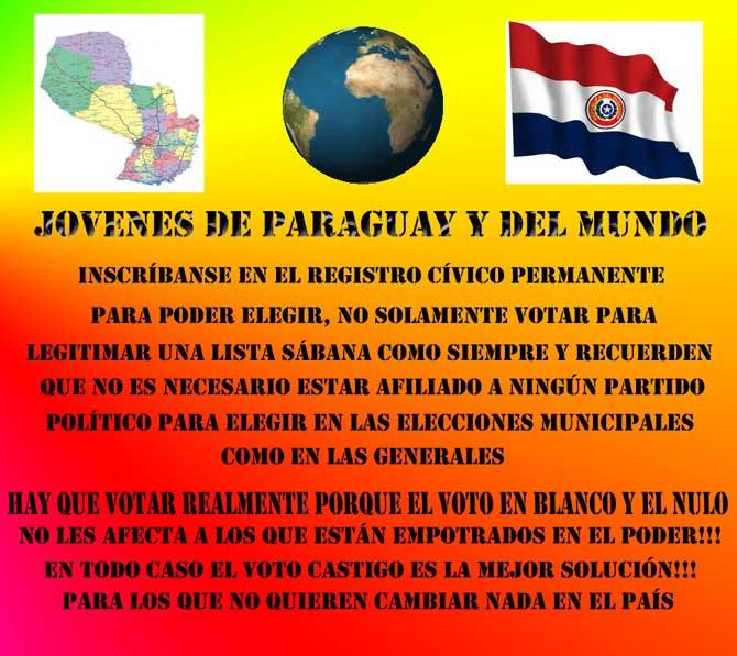 Para elegir y votar en las elecciones Municipales y Generales no es necesario estar afiliado a ningún partido político