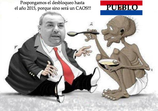 Oviedo plantea aplicar desbloqueo recién en las municipales del 2015