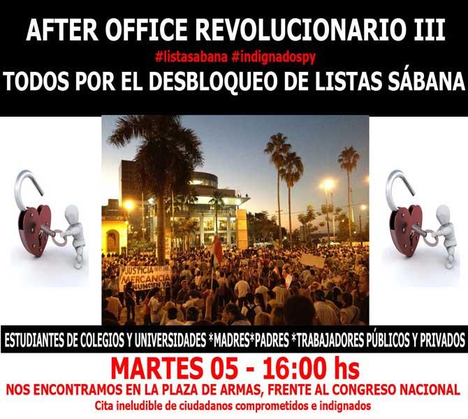 Cita ineludible de ciudadanos comprometidos e indignados este martes 05 de junio de 2012