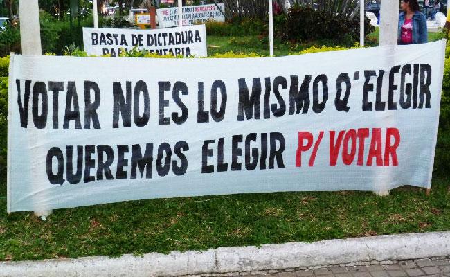 Sistema electoral obsoleto, antidemocrático e inconstitucional
